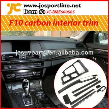 For Bmw 5 Series F10 Carbon Fiber Interior Trim Cover Buy For Bmw 5 Series F10 Carbon Fiber