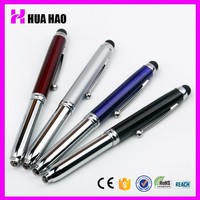 Jiangxi metal material metal ball pen with led light pen touch led