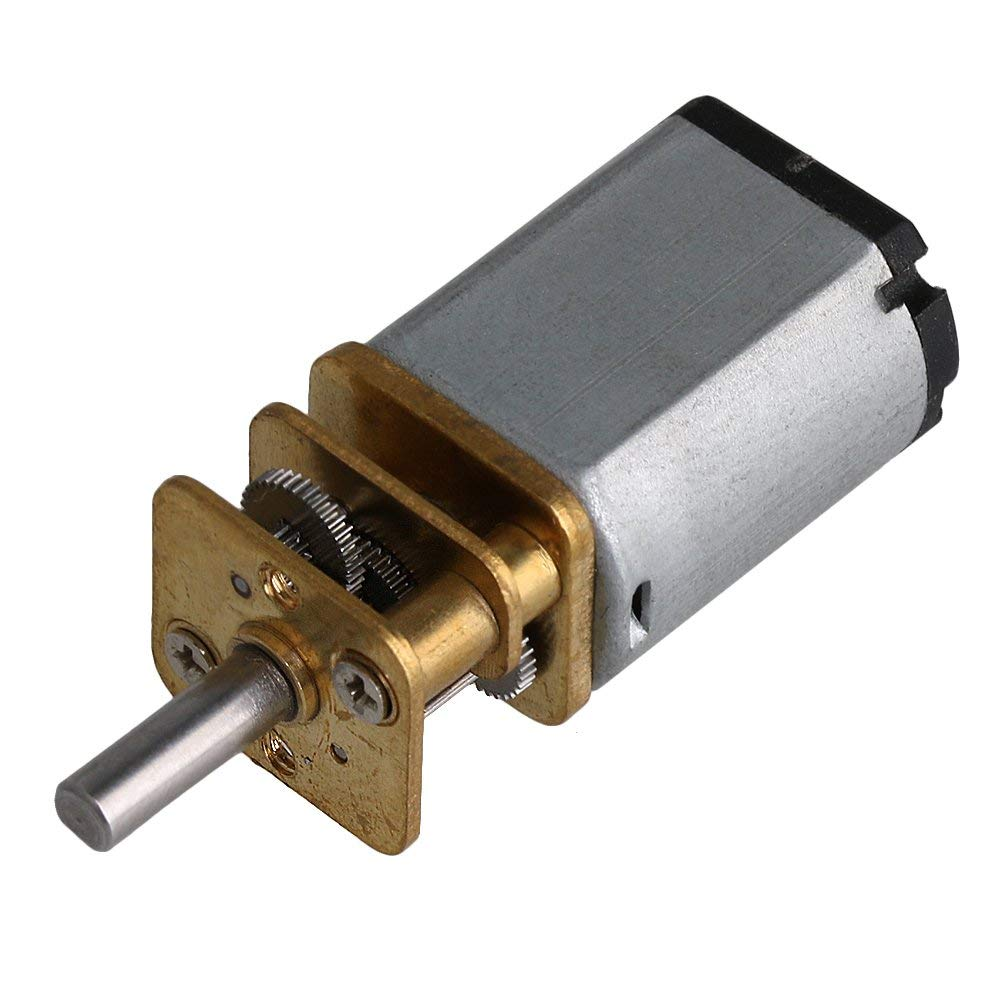 BQLZR 41x15.5x12mm DC 6V 70rpm Micro Speed Reduction Gear Motor with Metal Gearbox Wheel 280g Torque 1:150 Ratio for DIY Robots Dumbwaiter Mechanical Arm Electric Toy