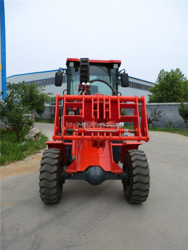 Small Farm Garden Tractor Front End Loader Tl1500 With Rear Hydraulic Output And Three Point