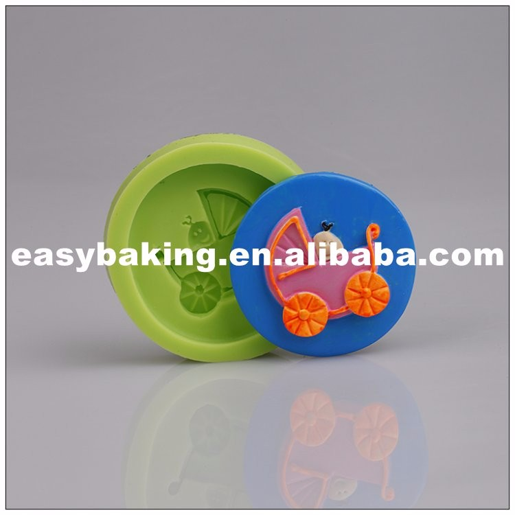 es-8413_Food Grade Baby Carriage Silicone Mold For Cake Fondant Decoration_7328.jpg
