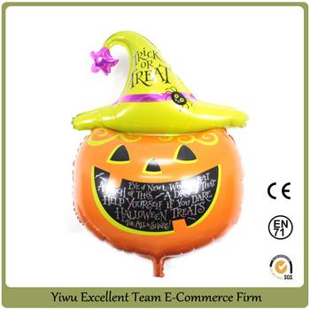 Decorazione Di Zucca Di Halloween Palloncini Palloncino Di Elio ... 5ce342094209
