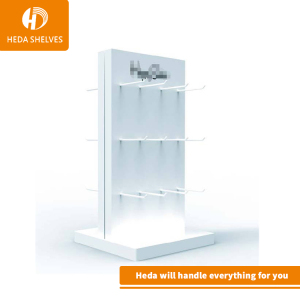 High Quality Tailor Made White Powder Coated Metal Socks Stand Display for Socks Display