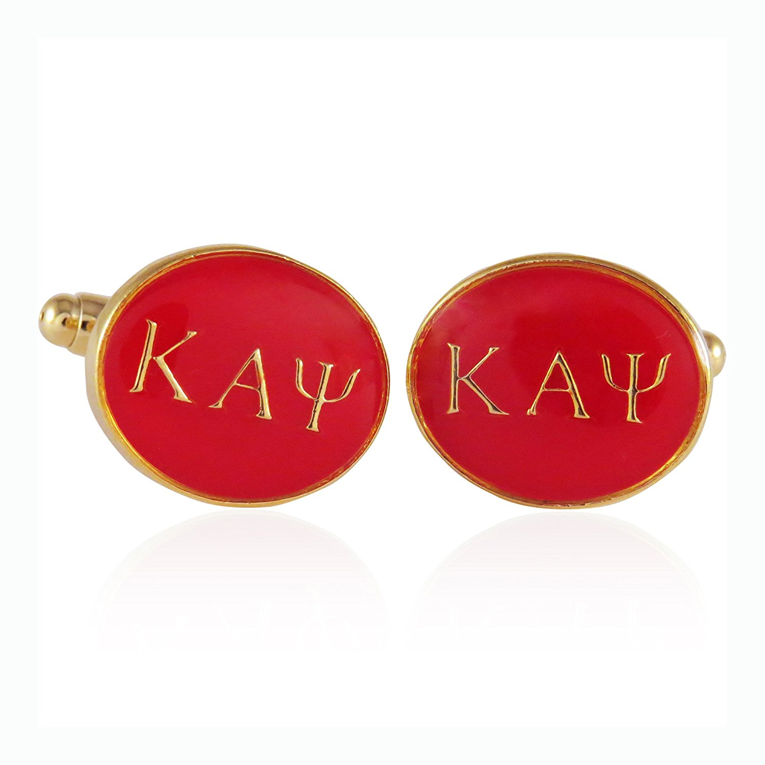 Kappa Alpha Psi Red Gold Cufflinks By Jewelry Mountain