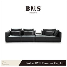 Top grain leather L shape humanized design outstanding sofa