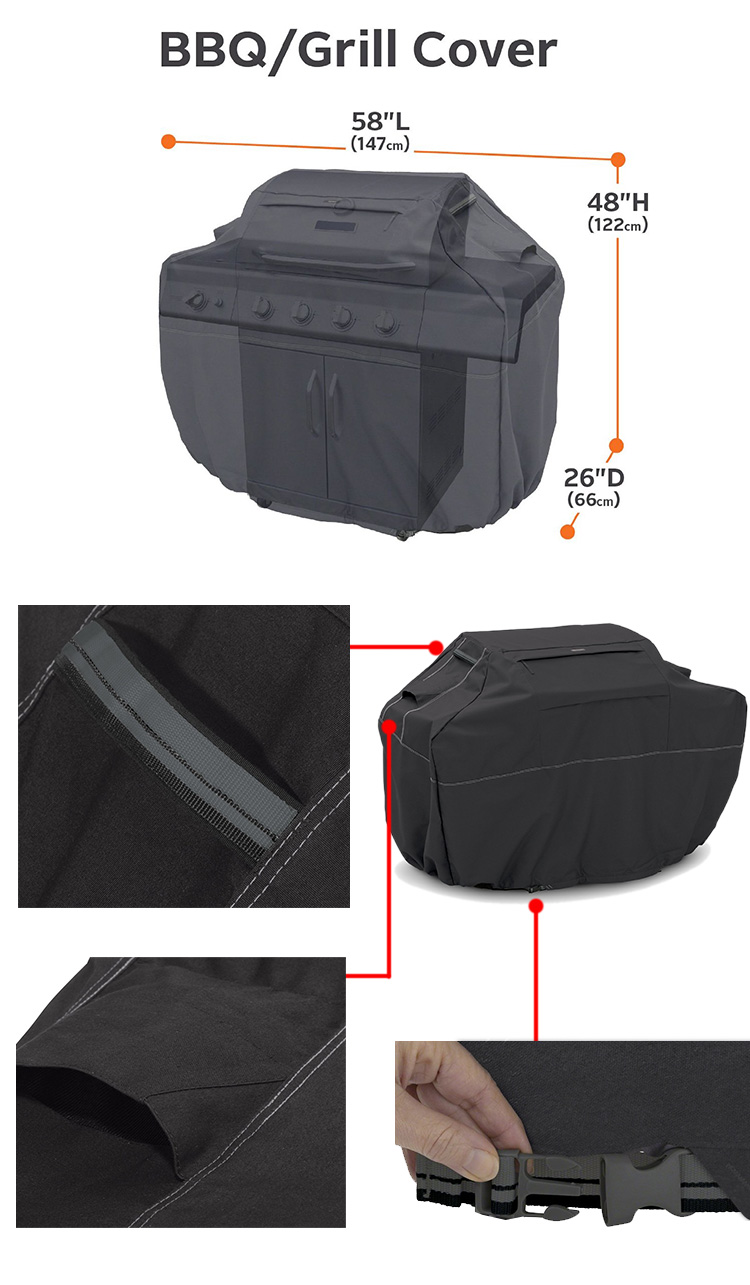 YH professionele fabriek barbecue BBQ cover grill cover