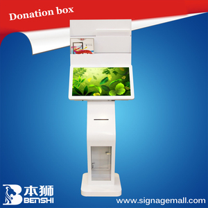 high quality 22 inch pc all in one touch screen desktop with donation box and holder