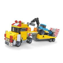 364 pcs 3 in 1 cartoon japanese plastic tow truck building blocks toys for kids