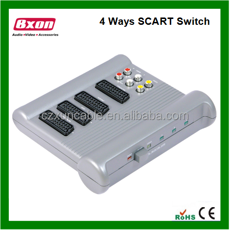 3 WAY SCART VIDEO CONTROL SWITCH