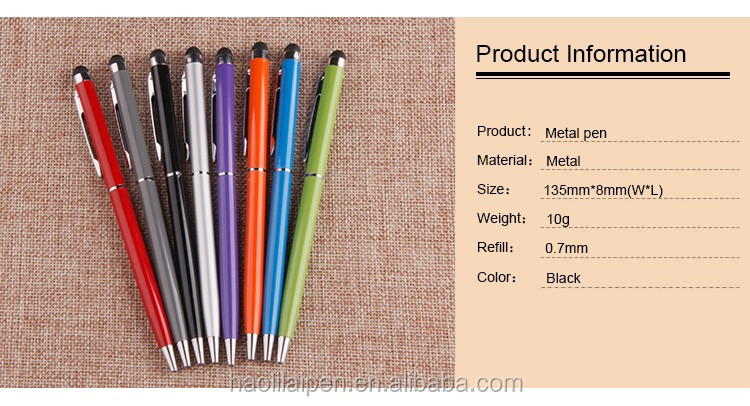 New Design Customized Logo Metal Ball Pen Promotional Touch Stylus ...