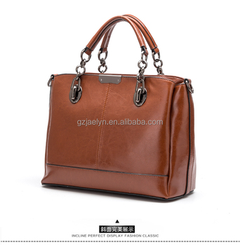 Oem Customized Leather Handbags Fashion Designer Women Bags Genuine Shoulder Lady Bag