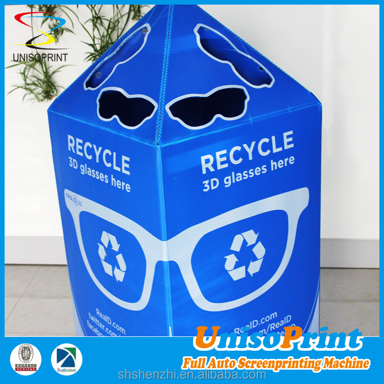 Outdoor cardboard display waste case