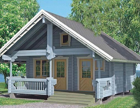 Beautiful wooden house easy assembly prefabricated villa with attic for sale