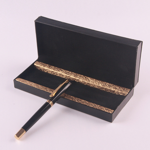 Luxury metal pen packaging in gift box pens writing antique quill ink pen set for car promotion