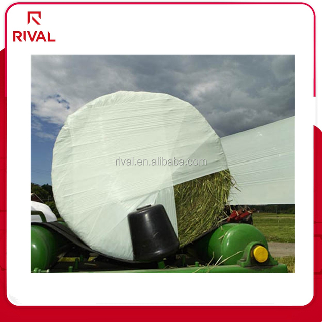 packaging plastic green silage bale wrap film with size 25micx500mmx1800m