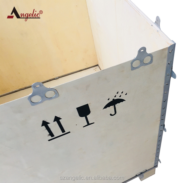 Angelic Heavy Industrial Steel Strip Plywood Packaging Wooden Boxes
