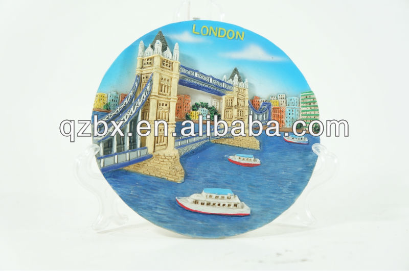 poly souvenir landscape plates, resin plated