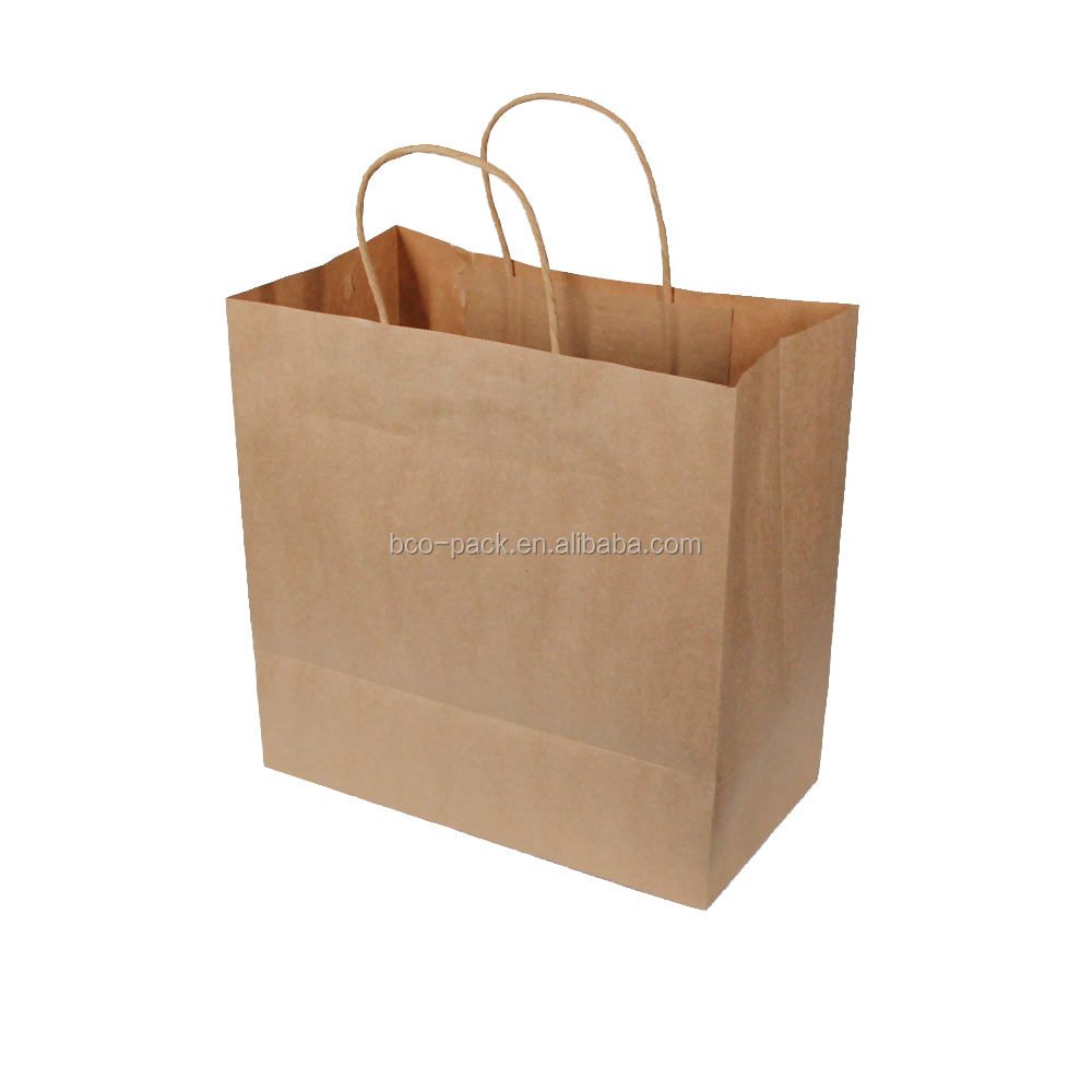 Long service life clothing sealing paper bag with handle shopping bag paper