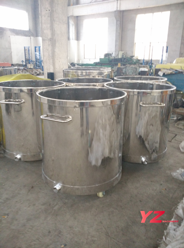 stainless steel moveable mixing tank