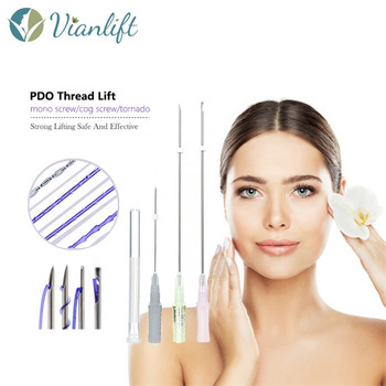 Absorbable thread lift face for furrowed brow forehead threading