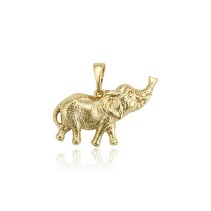 34330 xuping lucky animal cute elephant pendant, 14k women oro insumos de joyeria