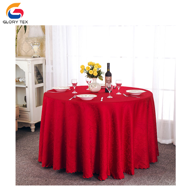 Wholesale 100% polyester round nappe wedding table cloth table cover