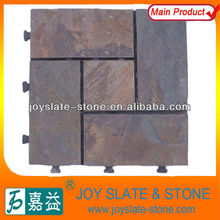 DIY interlocking slate paving stone