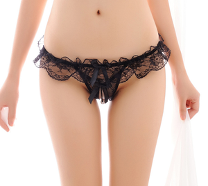 Hot Sale Open Front Panties Thong Charming Sexy Woman Panty