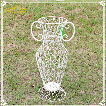 Wholesale Home Decor Metal Flower Vase Iron Garden Decor Flower Vase