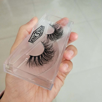 3D mink eyelashes with custom box real 3D mink lashes
