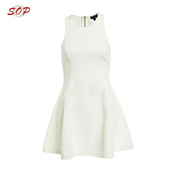 Fashionable holiday women white dresses satin summer party wear clothing dress