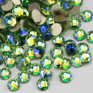 Colors plated 2088 high quality crystal rhinestone light green AB garment accessories rhinestone