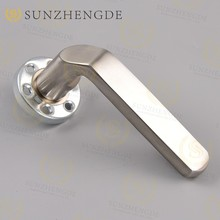 Top sale German fancy external door handle hardware, 45 degree modern entry door handle(Turgriff)