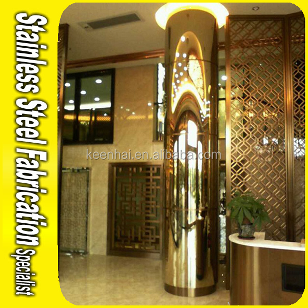 Decorative Stainless Steel Column Covers For Structural