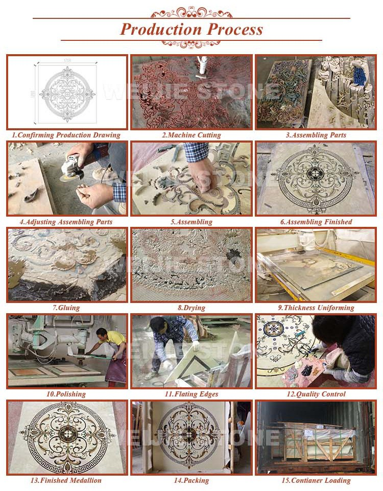 Marble Floor Pattern natural marble floor design,flower waterjet marble tiles design