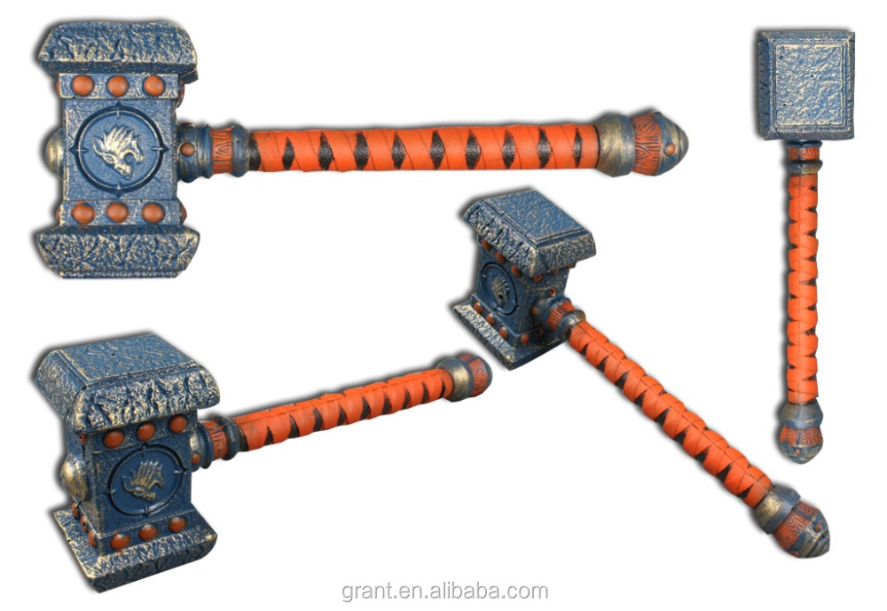 Wholesale Warcraft Hammer, Simulation Military Weapons, PU FoamSword