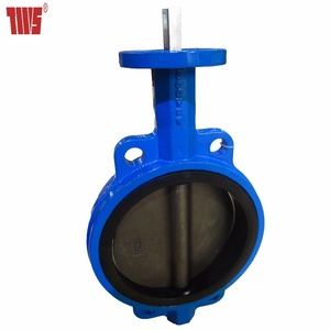Duplex Stainless Steel 2205 Wafer Butterfly Valve with Square Driven Bare Stem