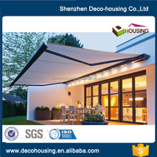 Outdoor automatic aluminum folding arm awning ,high grade retractable awning