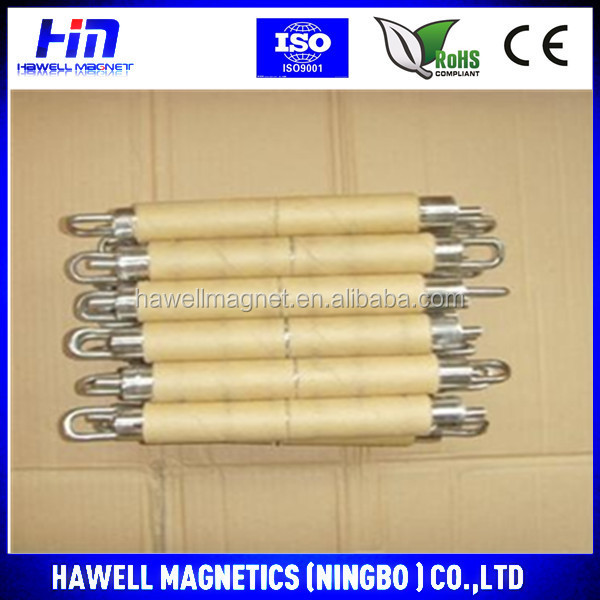 neodymium magnets rod with screw in the ends, 8000-10000Gs