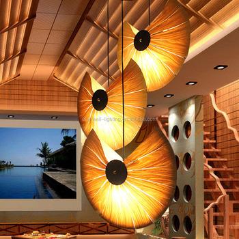wood veneer lighting. Fancy Chandelier Natural Wood Veneer Pendant Falling Lights Modern  Decorative Large Hanging Lamp Lighting A