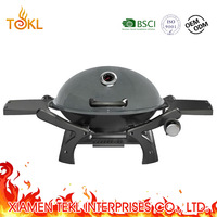 Professional Table Top Round Portable Weber Outdoor Gas Oven lpg Camping Propane Butane BBQ Grill Chicken with Cylinder on Car