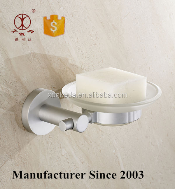 Shower Corner Glass Soap Holder Dishes