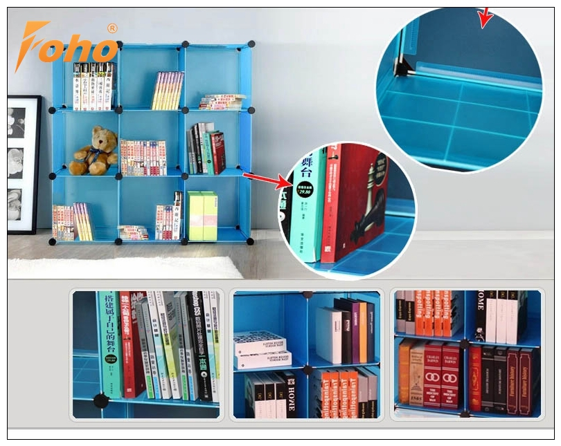 33de8b4b8 Plegable Apilable Diy Alambre De Metal Cubo Organizador Para Libros ...
