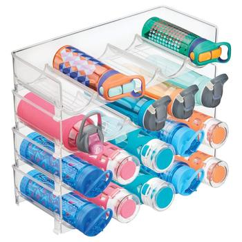 Plastic Free-Standing Water Bottle and Wine Rack Storage Organizer for Kitchen Countertops, Table Top, Pantry, Fridge