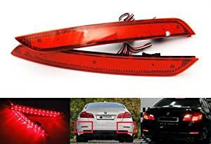 LEDIN BMW F10 F18 Red Lens Bumper Reflector LED Tail Signal Brake Stop Light 63147203237 OEM