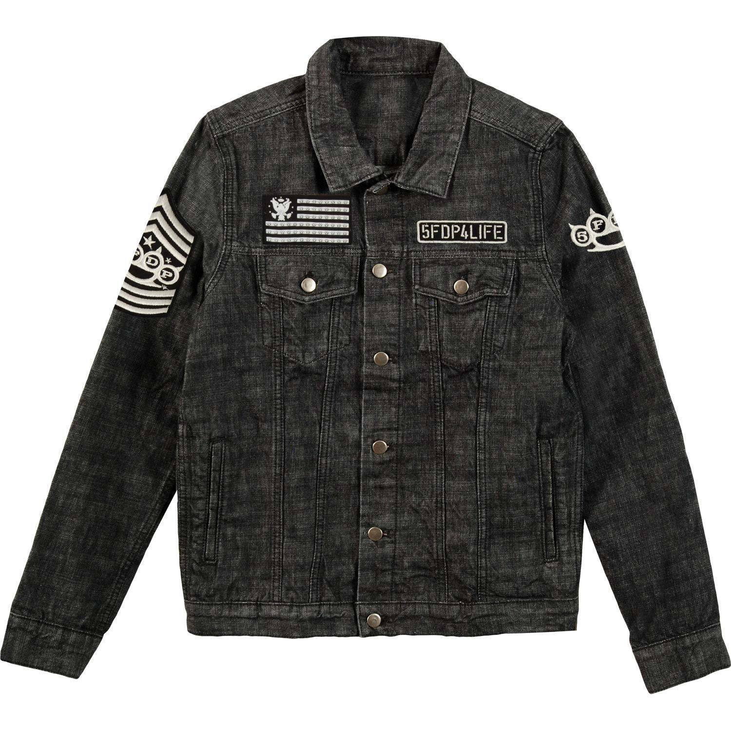 Five Finger Death Punch Custom Patched 5FDP Denim Jacket