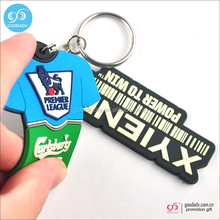 Guangzhou custom wholesale pvc plastic keychain cheap 3d soft rubber key tag