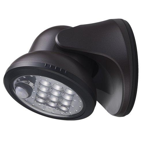 LIGHT IT by Fulcrum 20034-107 12-LED Wireless Motion Sensor Weatherproof Porch Light, Bronze