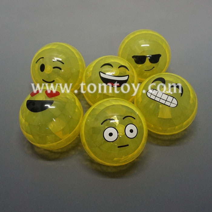 Emoji Smiley Face LED Light up Flashing Bouncy Balls
