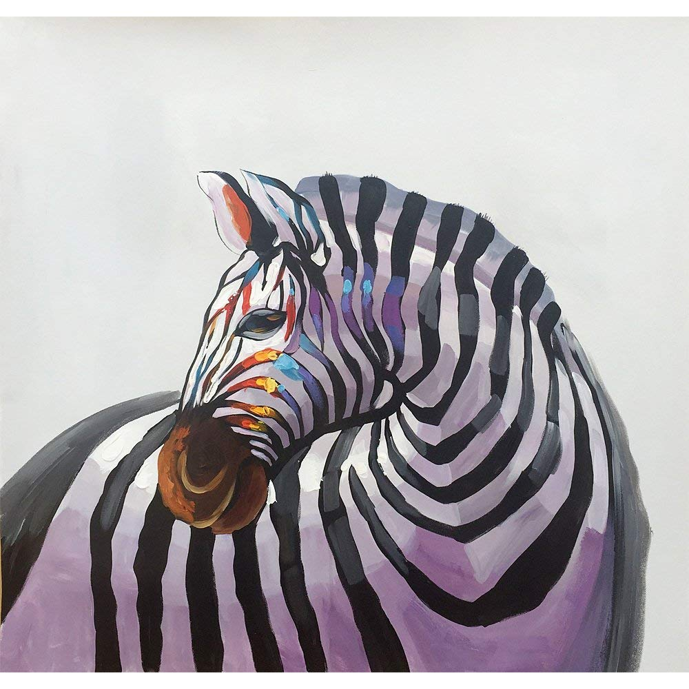 Yqm Art - Paint Horse 100% Hand-painted Original oil painting Modern Art Canvas Painting Hand Painted Zebra Abstract Paint Horse Oil Painting On Canvas